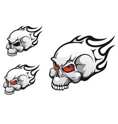 Evil skulls vector