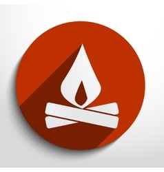 Campfire web icon vector