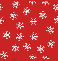 abstract new year seamless pattern with snowflakes vector image