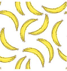 banana seamless pattern endless yellow bananas on vector image vector image