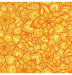 Bright orange floral seamless pattern vector image vector image