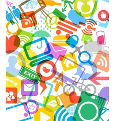 color modern media icons vector image vector image