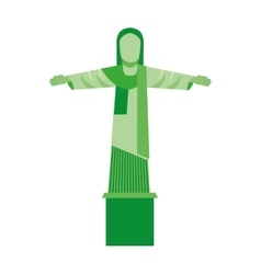 Corcovado christ isolated icon vector
