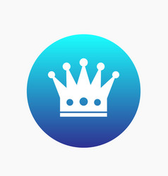 Crown icon regal monarch sign vector