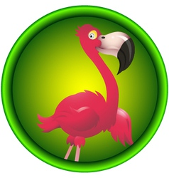 Cute flamingo vector