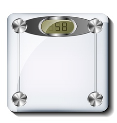 Digital bathroom scale vector