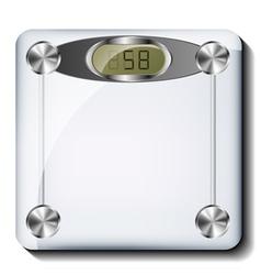 Digital bathroom scale vector image