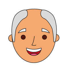 face old man profile avatar of the grandfather vector image