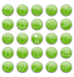 food buttons vector image vector image