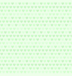 green heart pattern seamless vector image vector image
