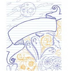 halloween doodles vector image vector image