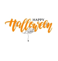 Happy halloween lettering holiday vector