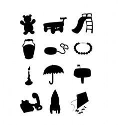 object silhouettes vector image