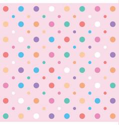 polka dots and circles seamless pattern vector image vector image