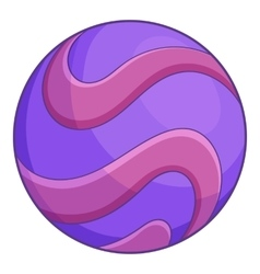 Purple abstract planet icon cartoon style vector