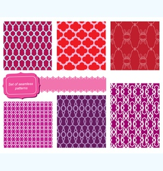 set of fabric textures with different lattices vector image vector image