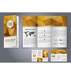 Template design three fold flyer brochure vector
