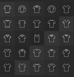 Tshirt minimal outline icons t-shirt vector