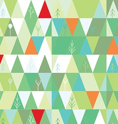 Winter tree background in geometric style vector image vector image