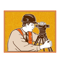 Surveyor geodetic civil engineer retro vector
