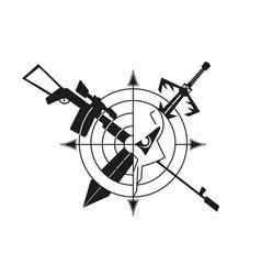War logo skull vector
