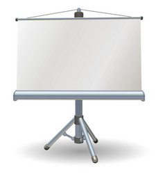blank presentation or projector roller screen vector image