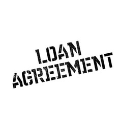 Loan agreement rubber stamp vector