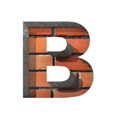 Brick cutted figure b paste to any background vector