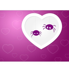 Funny spiders love vector