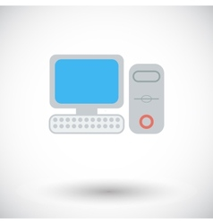 Computer flat icon 2 vector