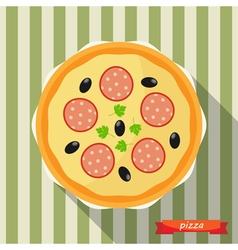 Pizza icon vector