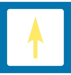 Arrow axis y flat yellow and white colors rounded vector