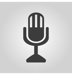 The mic icon microphone symbol flat vector