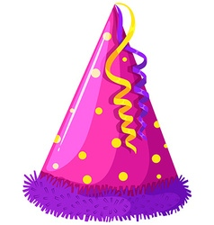 Party hat with decoration vector