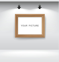 Room with picture frame vector