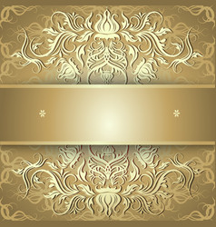 Luxury gold background with ornament vector