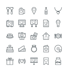 Love and romance cool icons 3 vector