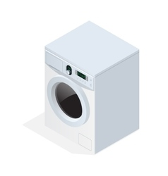 Modern washing machine isolated on white vector