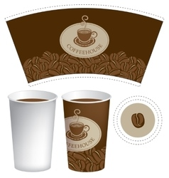 paper cup for hot drink vector image