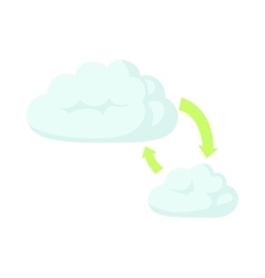 Cloud sync refresh icon cartoon style vector