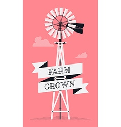 Farm Windmill vector image