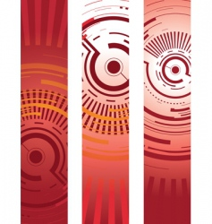 abstract technology banners vector image
