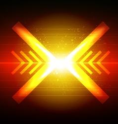 arrow crash design vector image vector image