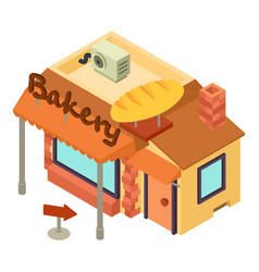 bakery shop icon isometric style vector image