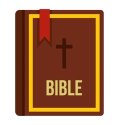 Bible book icon flat style vector