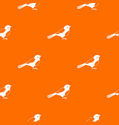 bird pattern seamless vector image vector image