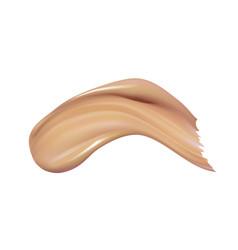 Cosmetic liquid foundation cream smudge smear vector