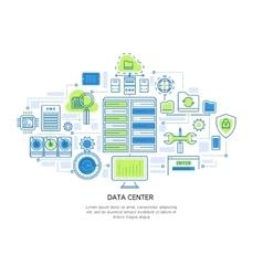 Datacenter linear design vector