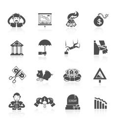 Economic Crisis Icons vector image