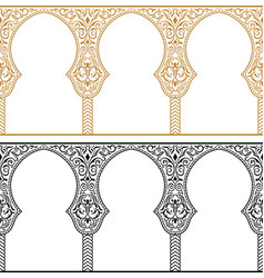 eid al adha greetings backgrounds frame set vector image vector image